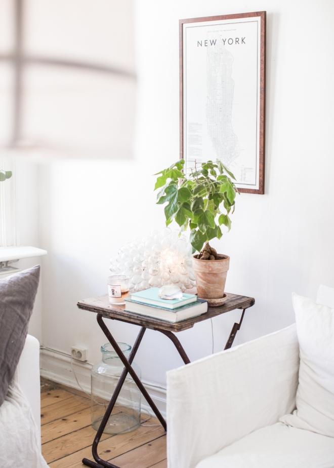 casa lámpara tela blanca 11