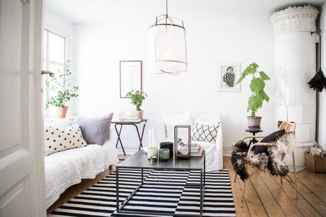 casa lámpara tela blanca 12