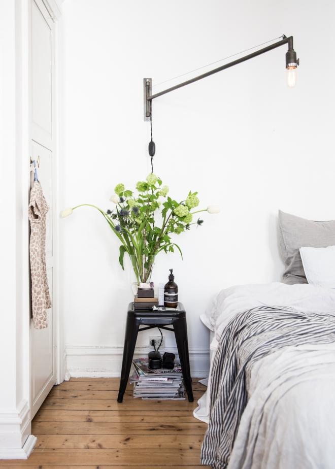 casa lámpara tela blanca 15