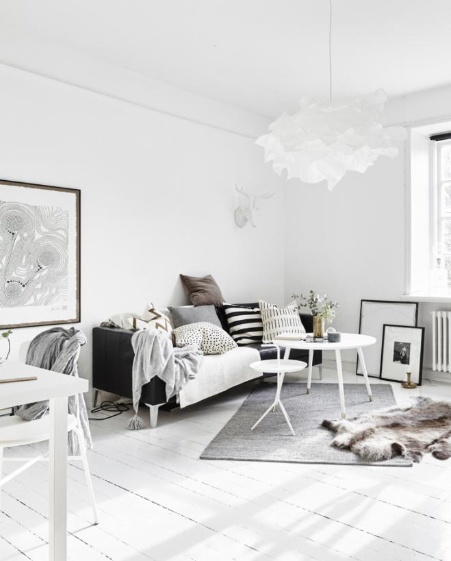 Monoambiente blanco y negro 1