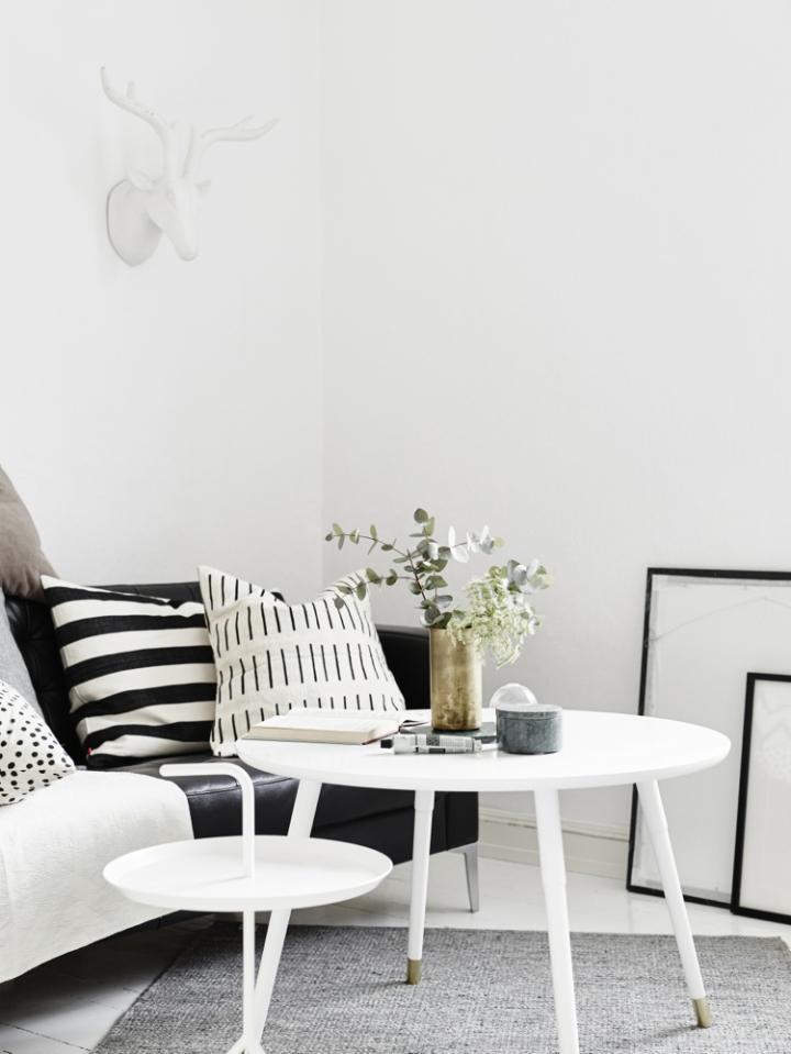 Monoambiente blanco y negro 3