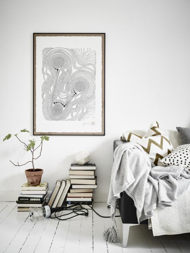 Monoambiente blanco y negro 4