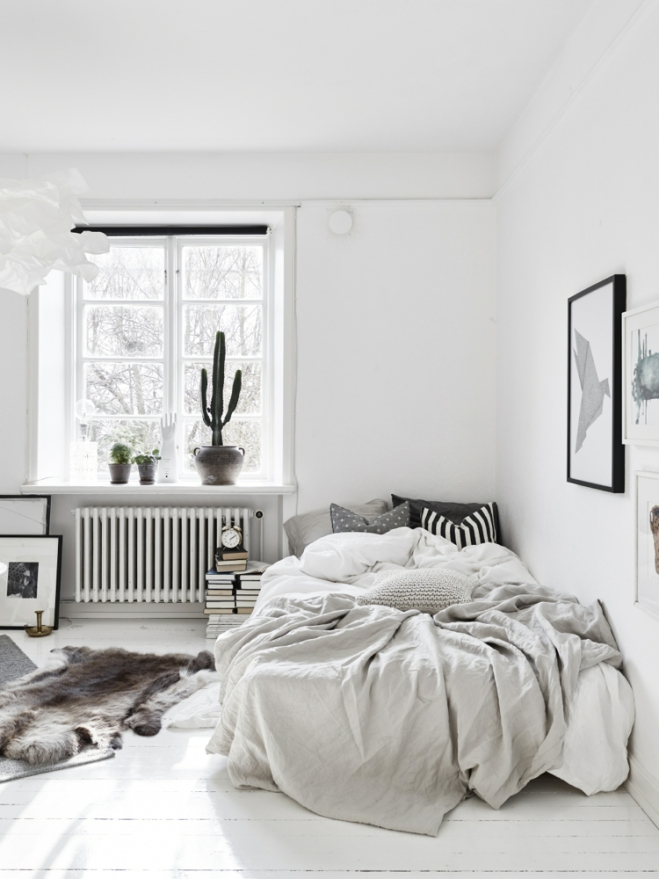 Monoambiente blanco y negro 5