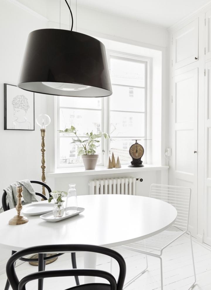 Monoambiente blanco y negro 8
