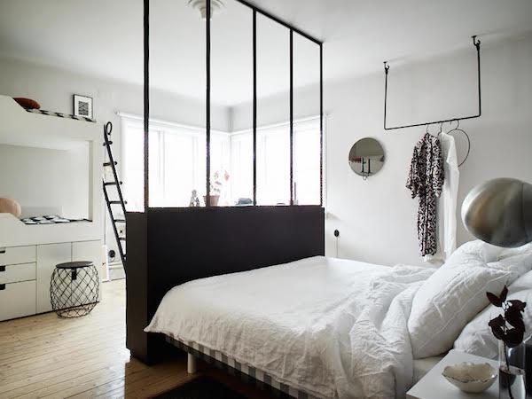 Un dormitorio para tres muyparticular.