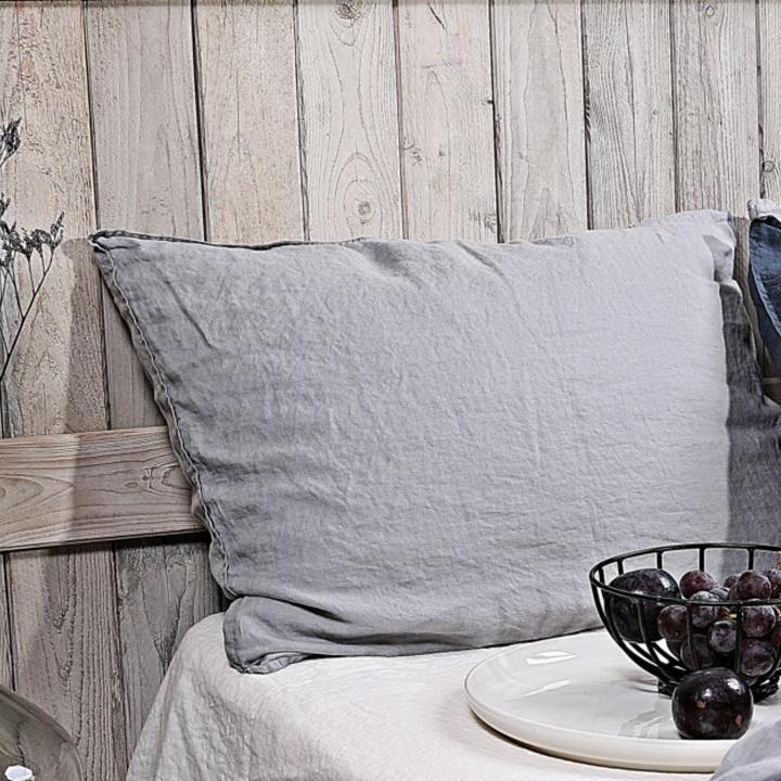 almohadon Portbou lino gris perla